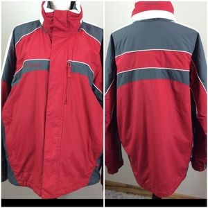 Columbia winter Jacket Red, Gray Size Large